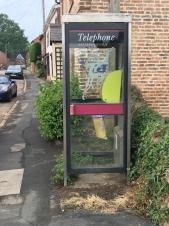 Defibrillator located in phone box